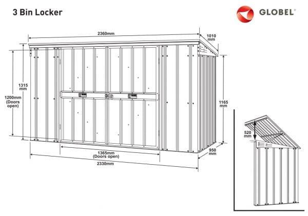 Šiukšlių konteinerio stoginė