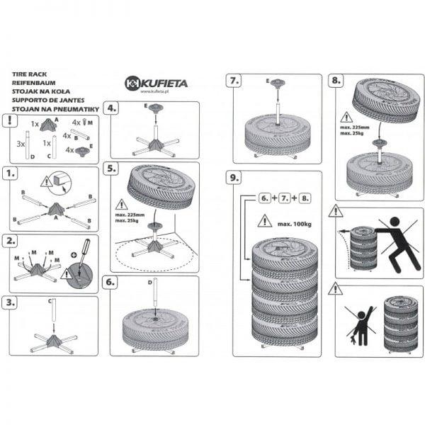 Padangu stovas instrukcija
