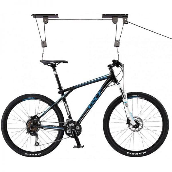 Laikikliai dviračio pakabinimui palubėje